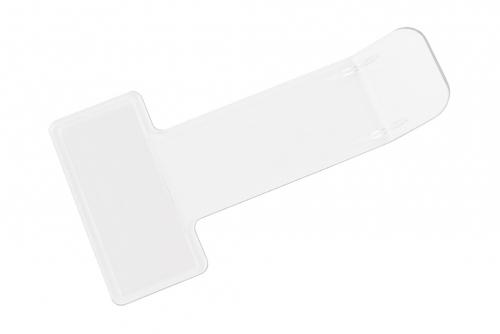 P-billettholder, glassklar uten trykk