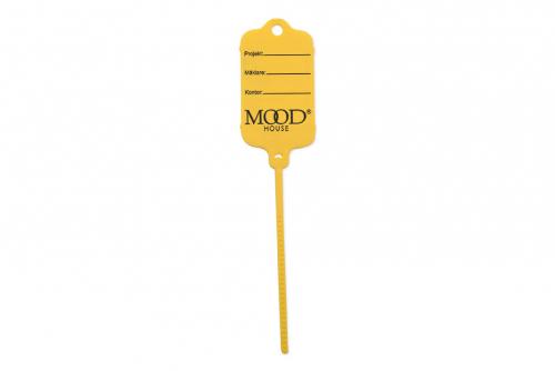 Keytag, gul, eget trykk 1 side