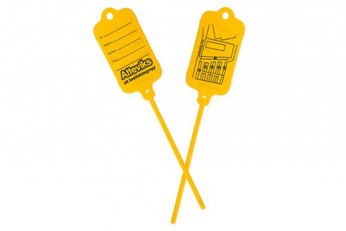 Keytag, gul, eget trykk 2 sider