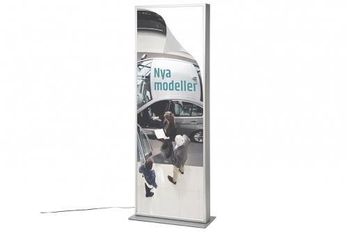 Poster-sett til dobbeltsidig lysskilt LED