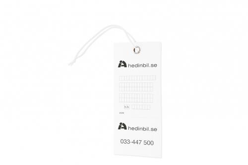 P-billettholder, transparent uten trykk