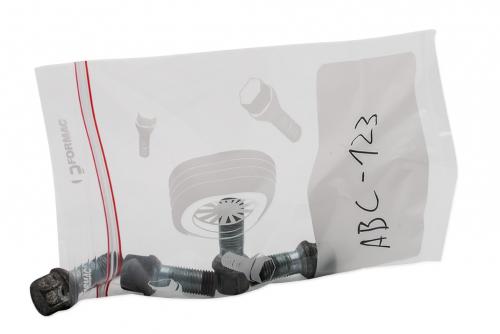 Servicemappe i transparent plast, A4 med trykk 1 farge