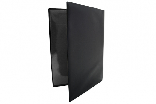 Servicemappe i kraftig sort plast