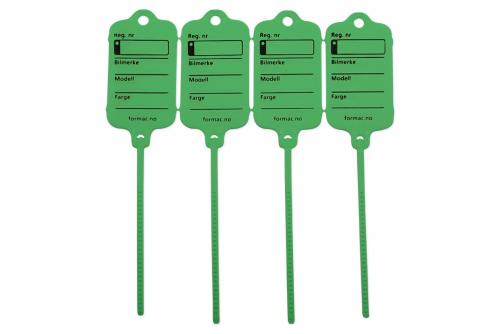 Keytag standard grønn