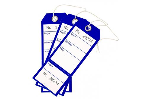 Nøkkelmerking , Blå med kvittering