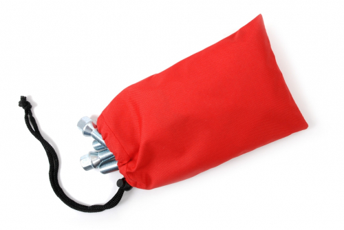 Boltpose i tekstil, rød uten trykk