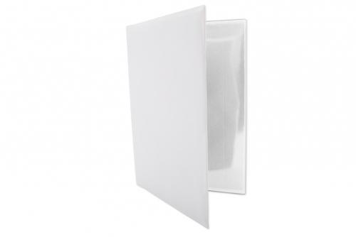 Kjøretøymappe i hvit plast, A5 uten trykk