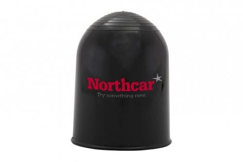 Kulebeskytter sort med 2 fargers trykk 1 side
