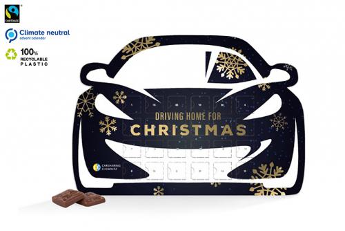 Julekalender i bilformat med trykk